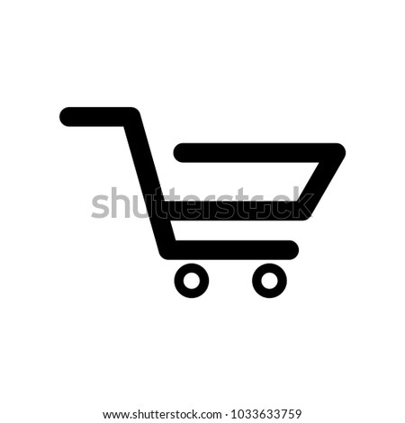 Online shopping cart vector icon