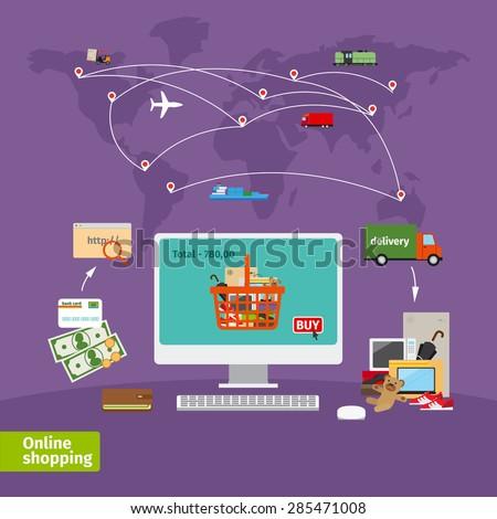 online shopping concept e
