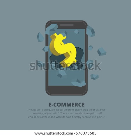 online shopping concept with
