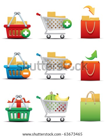 online shopping icon - stock vector