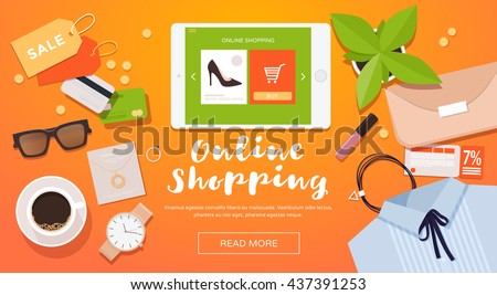 online shopping. online store...