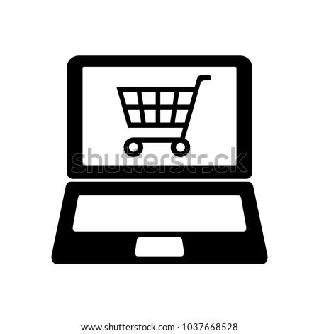 Online shopping vector icon.