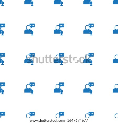 online store icon pattern seamless isolated on white background. Editable filled online store icon. online store icon pattern for web and mobile.