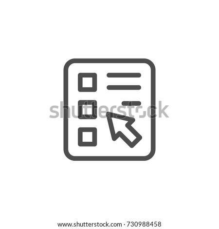 Online survey line icon Stockfoto ©