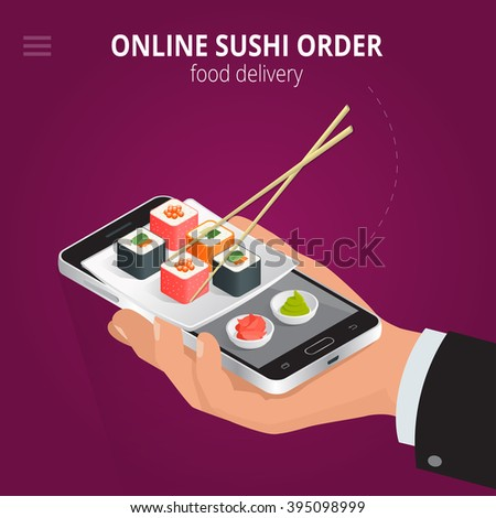 online sushi ecommerce concept