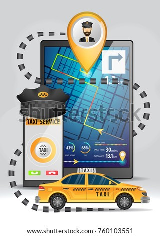 online taxi service concept