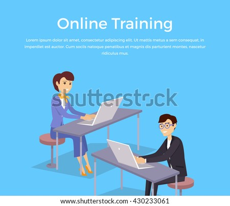 online training banner design...
