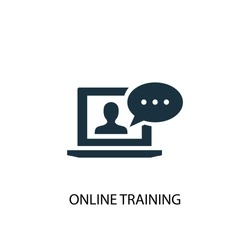 Online Training icon. Simple element illustration. Online Training symbol design from eLearning collection. Can be used in web and mobile.
