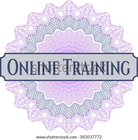 Online Training inside a money style rosette