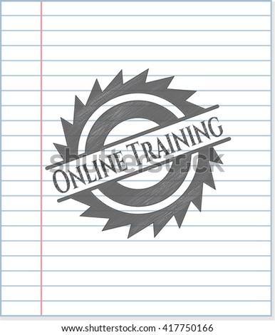 Online Training pencil emblem
