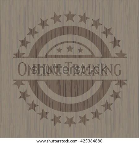 Online Training retro style wood emblem
