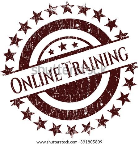 Online Training rubber grunge texture seal