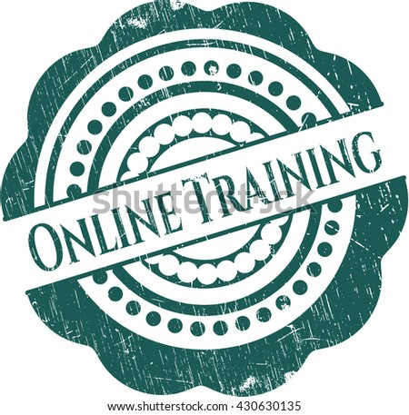 Online Training rubber stamp