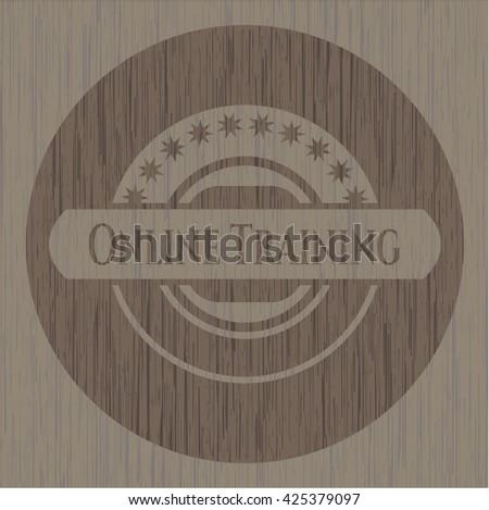 Online Training vintage wood emblem