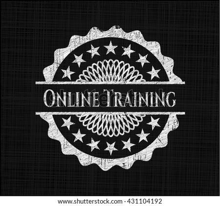Online Training with chalkboard texture
