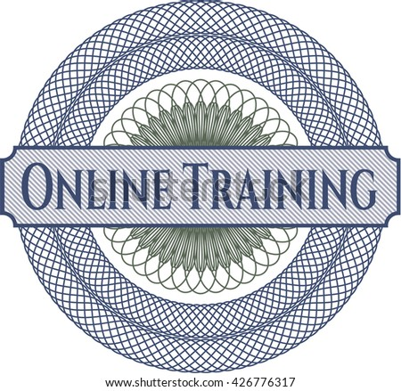 Online Training written inside abstract linear rosette