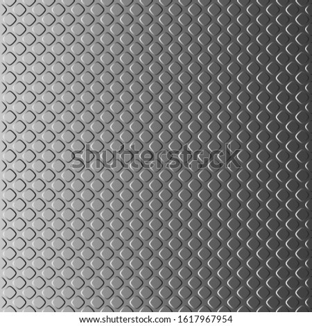 Only vertically seamless background looking like a metal plate with notches. Pattern for creating a vertical infinite strip. Patterns should be placed above or below each other. Vector illustration.