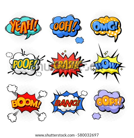 onomatopoeia or comic bubble