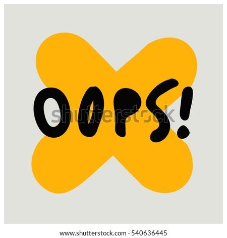 oops   brush lettering vector