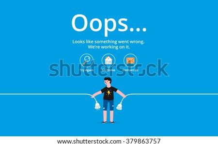oops 404 error page  vector
