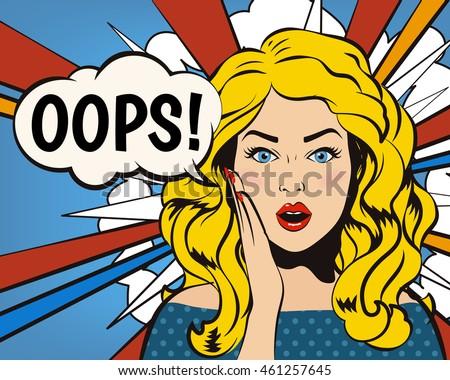oops woman  oops face