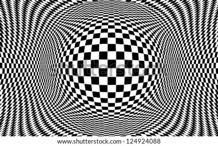 op art design black and white pattern concept for hypnosis unconscious chaos