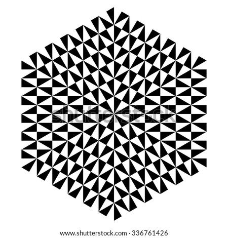 op art hexagonal design vector