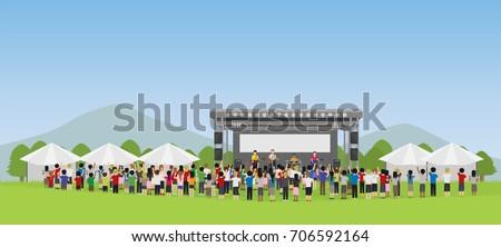 open air concert in outdoor