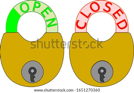 Open and closed signboard signs