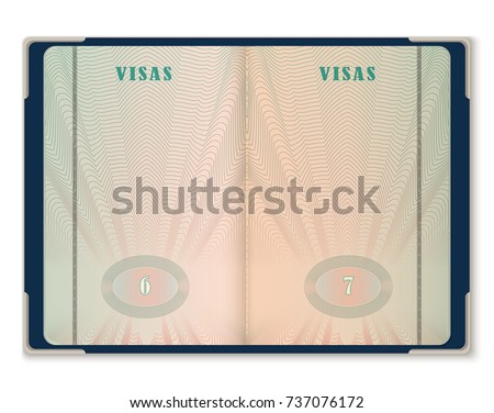 Blank passport page template - Download Free Vector Art, Stock