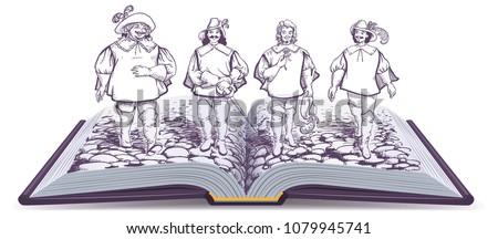 open book historical novel