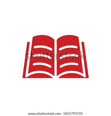 Open book icon logo, vector and illustration Stok fotoğraf ©