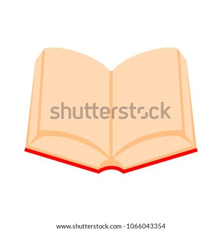 Open book icon, vector book isolated - education icon, library symbol