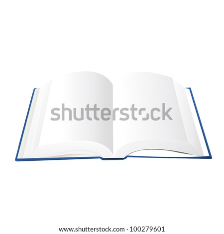 Open Book Illustration. A Vector illustration of an open book with blank pages - stock vector