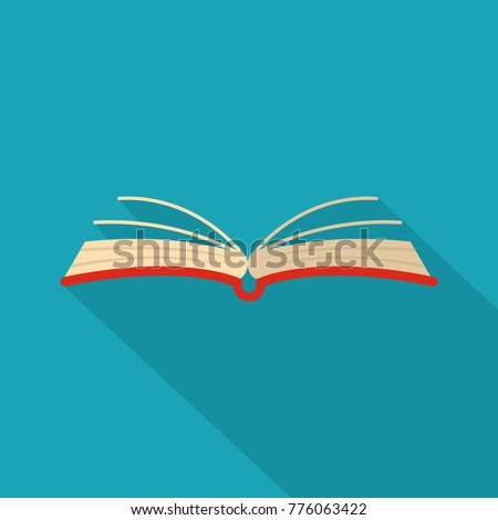 Open book literature icon. Flat illustation of open book literature vector icon for web