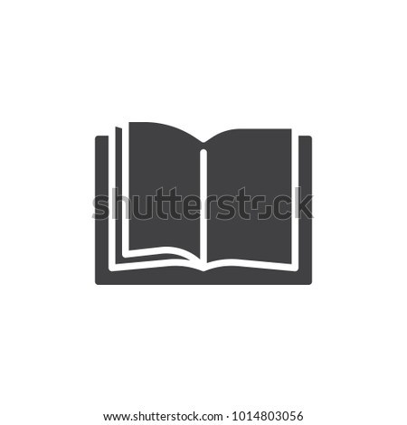 Open book pages icon vector, filled flat sign, solid pictogram isolated on white. Library reading symbol, logo illustration.