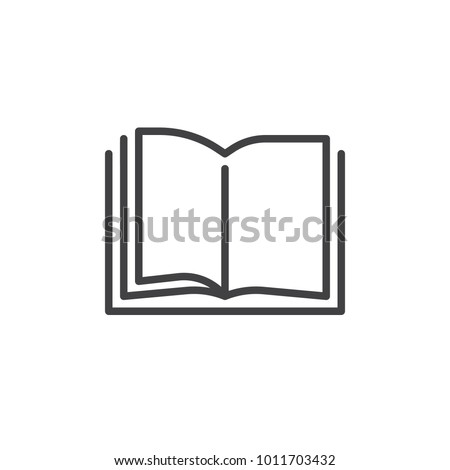 Open book pages line icon, outline vector sign, linear style pictogram isolated on white. Library reading symbol, logo illustration. Editable stroke