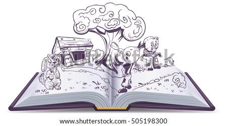 open book story tale cipollino