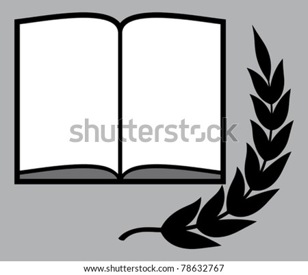 Open book (Vector) - stock vector