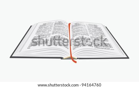 open book vector eps10