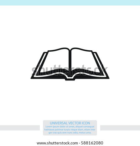 Open book vector icon.