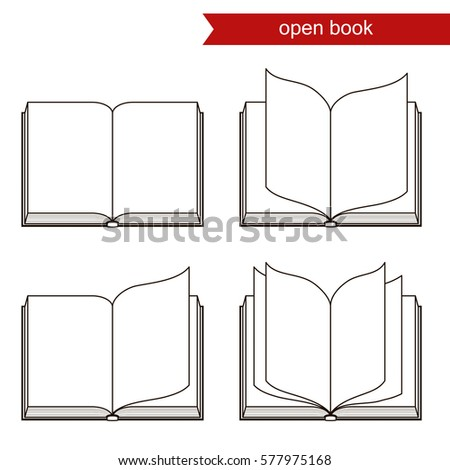 open book with blank pages. vector icon.