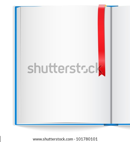 Open book with bookmark, vector eps10 illustration