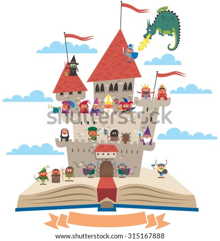 open book with fairy tale