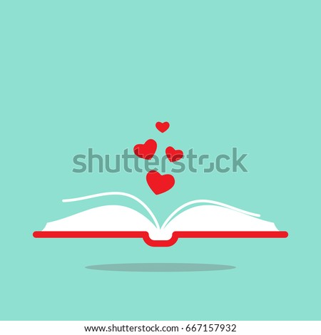 open book with red cover and