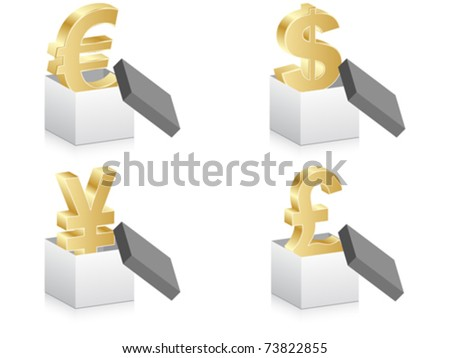 open box with currency