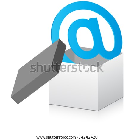 open box with email sign inside