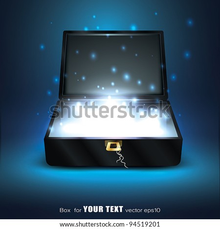 Open box with Glowing Energy