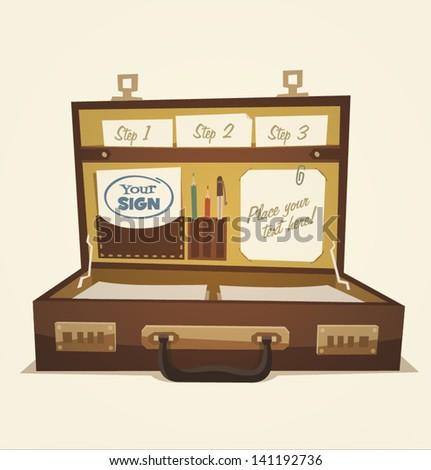 Open Briefcase Vector Open Briefcase Business