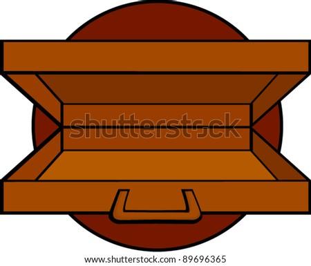Open Briefcase Vector Open Briefcase or Suitcase